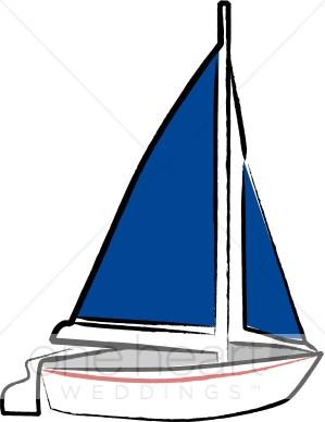 299x388 Blue Sail Sailboat Clipart Nautical Wedding Clipart