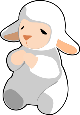 279x400 Image Download Praying White Lamb