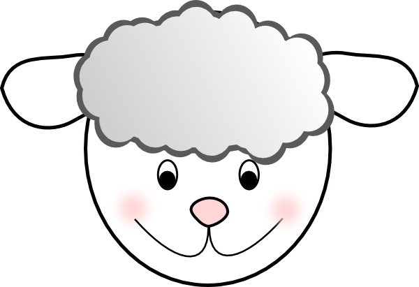 600x411 Smiling Good Sheep Clip Art