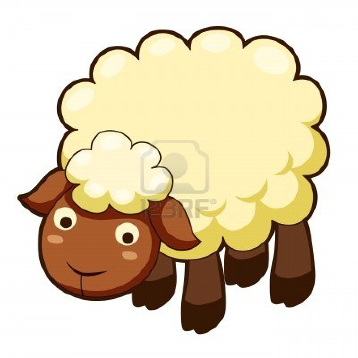 1200x1200 Cute Sheep Images Cute Sheep Clipart Black And White , Ipad Mini
