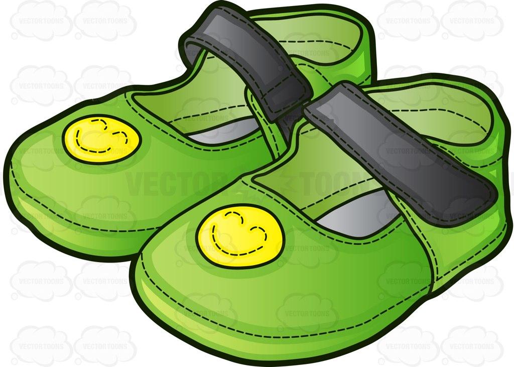 1024x731 Green Sandals For Girls Cartoon Clipart