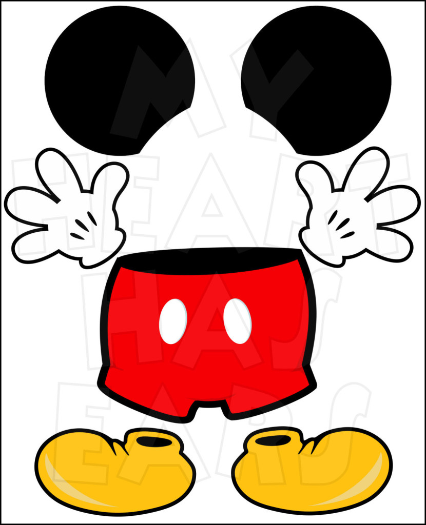 830x1024 Mickey Mouse Shoes Clipart