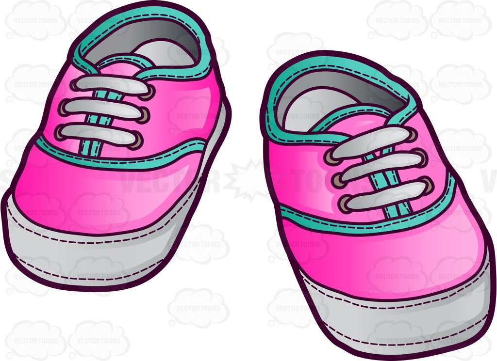 1024x745 Pink Sneakers For Baby Girls Cartoon Clipart