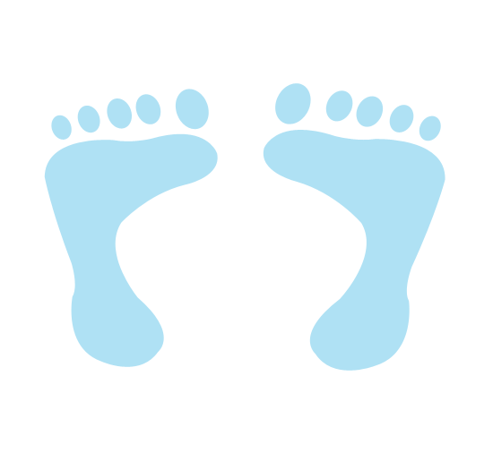 550x525 Baby Boy Blue Footprints Clip Art Baby!! Baby
