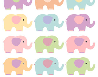 340x270 Elephants Clipart Mint Grey Elephants Clip Art Mint Digital Paper
