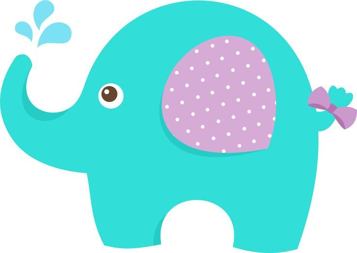 Baby Shower Elephant Clipart