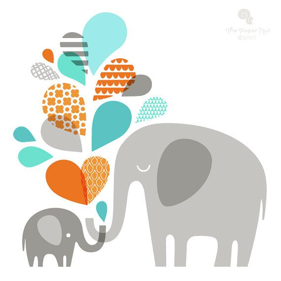 Baby Shower Elephant Clipart | Free download on ClipArtMag