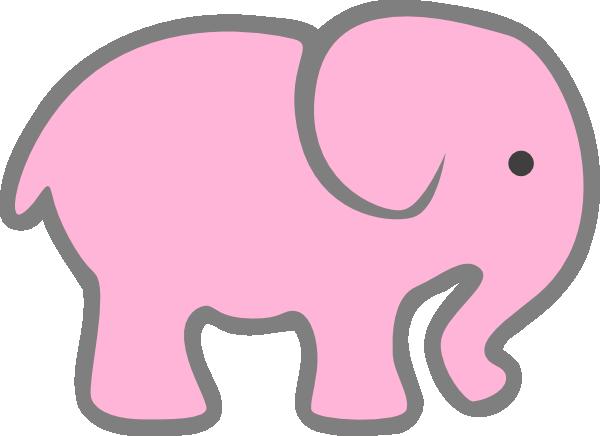 600x436 Pink Elephant Clip Art