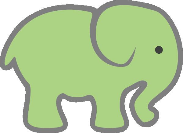 600x436 Baby Green Elephant Clip Art