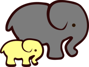 299x228 Baby Shower Elephant Clipart Yellow
