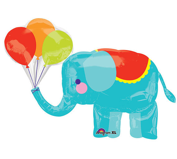 570x512 Circus Elephant 36 Supershape Balloon Aby Shower Decorations