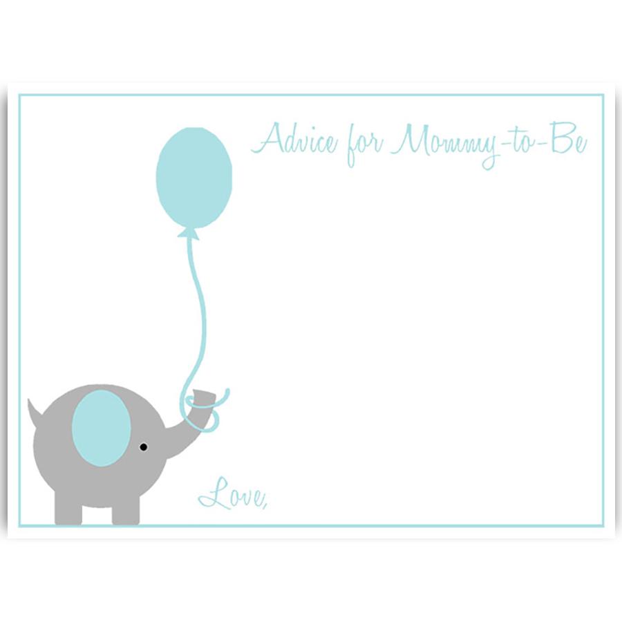 900x900 Elephant Balloon Blue Baby Shower Invitation The Invite Lady