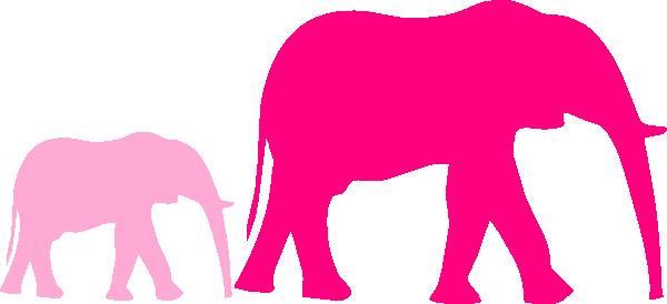 600x274 Pink Baby Shower Elephant Mom Clipart Panda