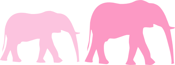 600x223 Pink Baby Shower Elephant Mom And Baby Clip Art
