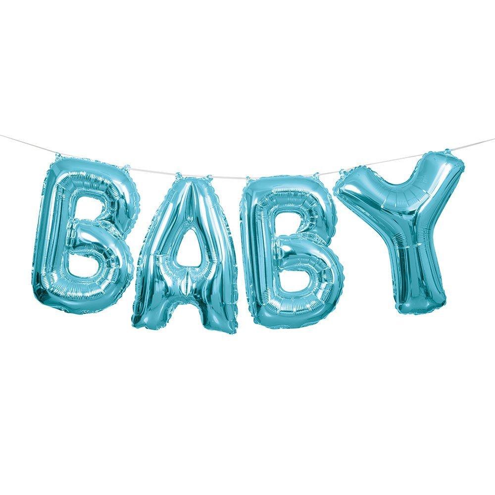 1000x1000 6 Mini Blue Elephant Boy Baby Shower Decorations, 4ct