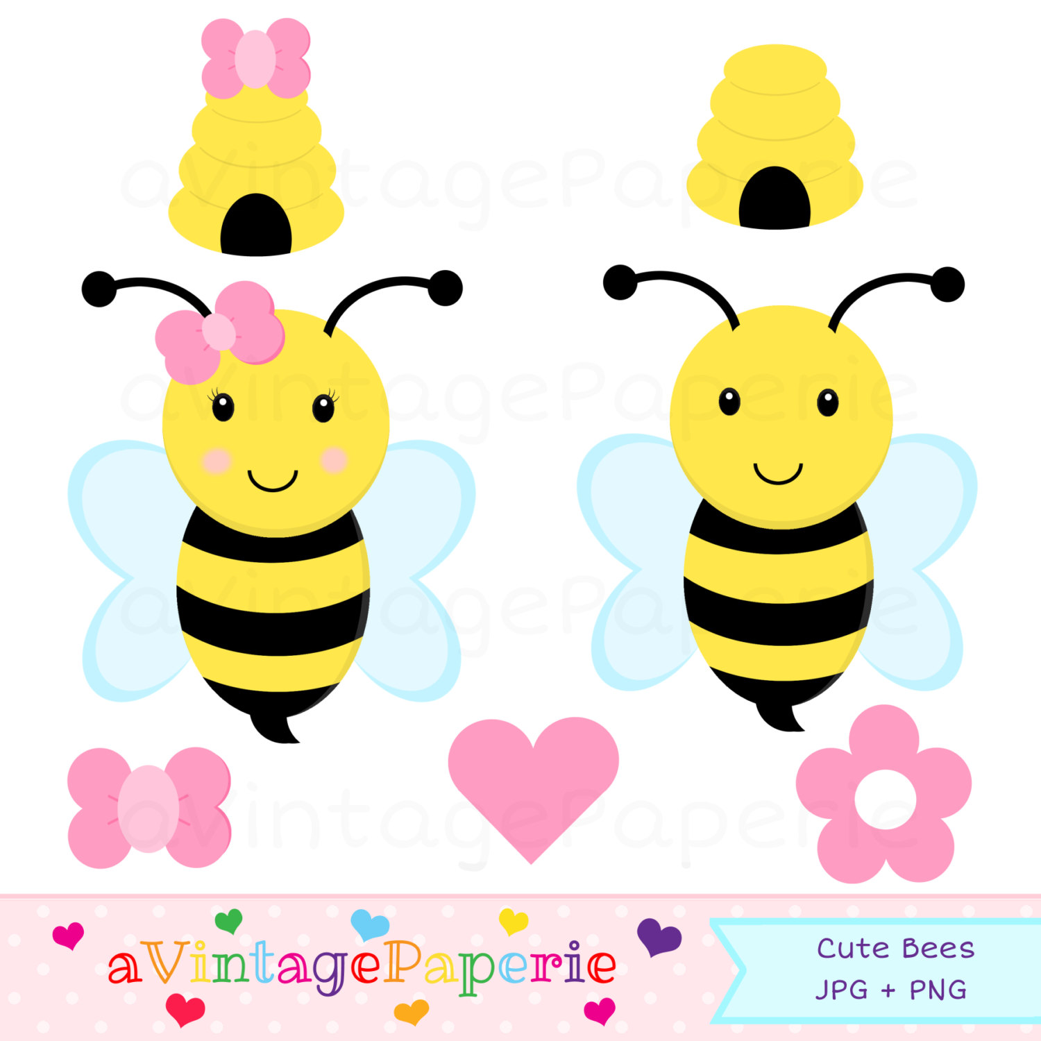 1500x1500 Bee Baby Shower Clip Art