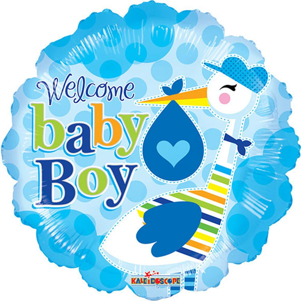 1000x1000 18 Welcome Baby Boy For Baby Shower Blue Foil Mylar Balloons ( 6 Ba