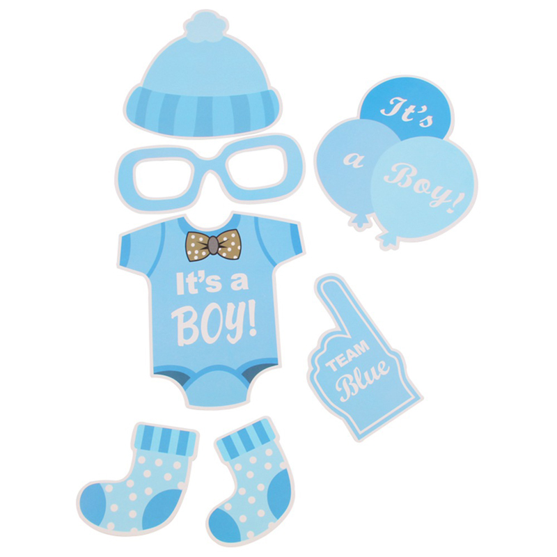 800x800 Fengrise 25pcs Baby Shower Favors Photo Booth Props Its A Boy Girl