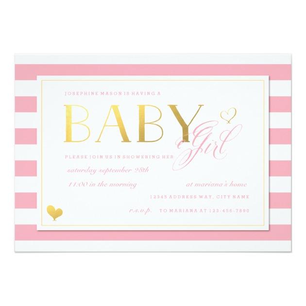 630x630 Custom Baby Shower Invites Templates For Girl Babyfavors4u