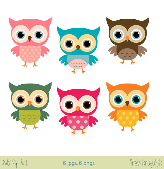 570x585 Baby Owl Clip Art Girl Owl Clipart Rainbow Owl By Pravokrugulnik