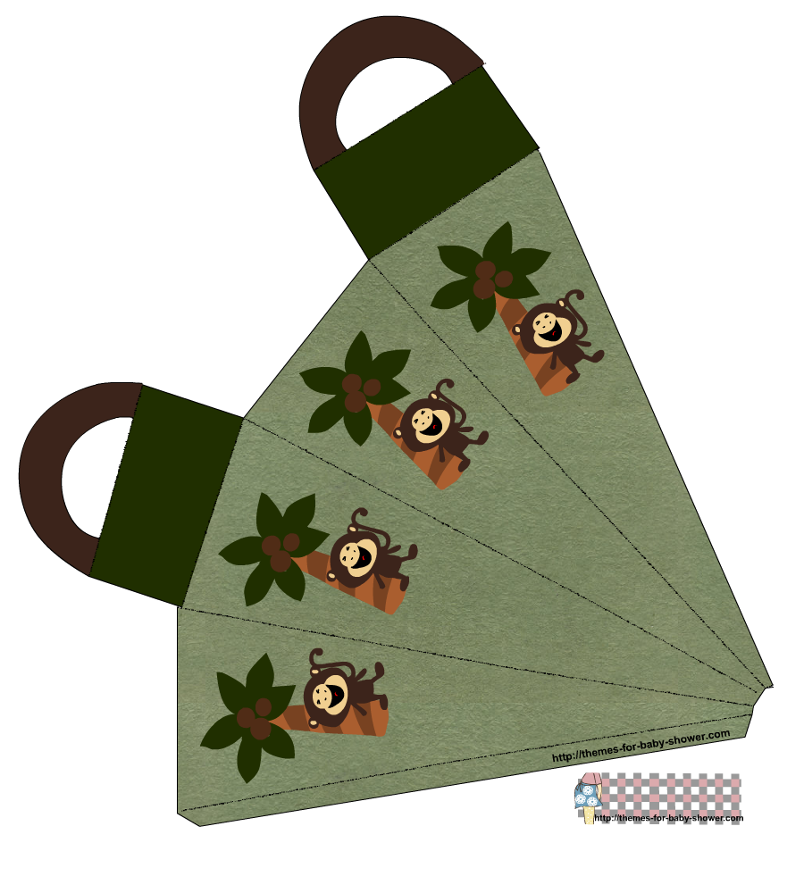 900x1000 Free Printable Monkey Baby Shower Favor Bags