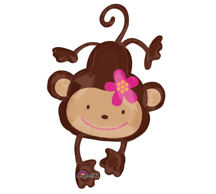700x629 Girl Monkey Baby Shower