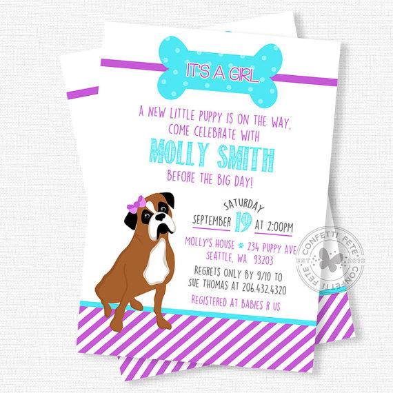 570x570 Puppy Baby Shower Invitations