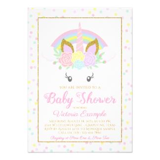 324x324 Unicorn Baby Shower Cards Amp Invitations Zazzle.co.uk