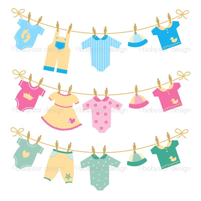 800x800 Girl Clothesline Shower Clipart