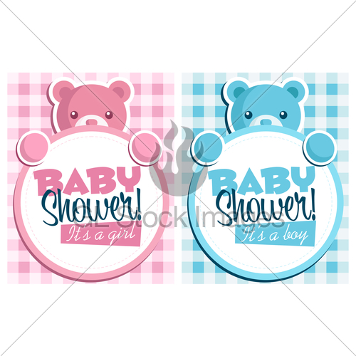 500x500 Baby Shower Invitation Cards Gl Stock Images