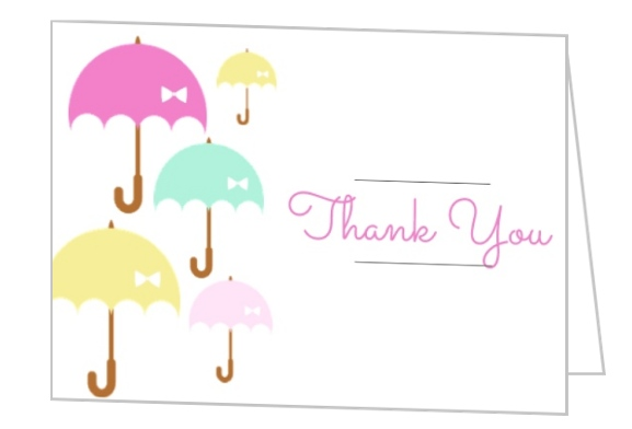 577x392 Baby Shower Thank You Cards