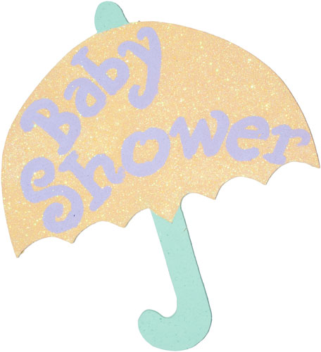 456x500 Baby Shower Umbrella Clipart