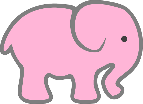 600x436 Elephant Clipart Baby Shower