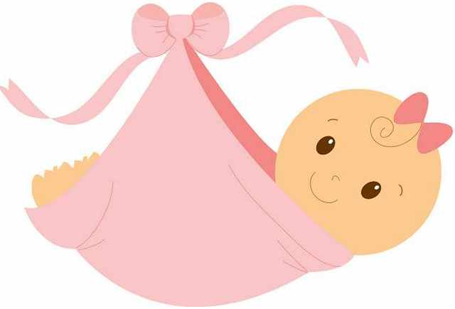 640x435 Free Clipart Baby Shower Girl