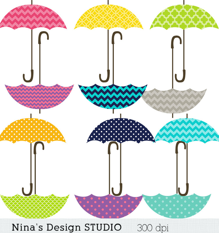 752x800 Instant Dowload Umbrella Clipart Scrapbook For Personal