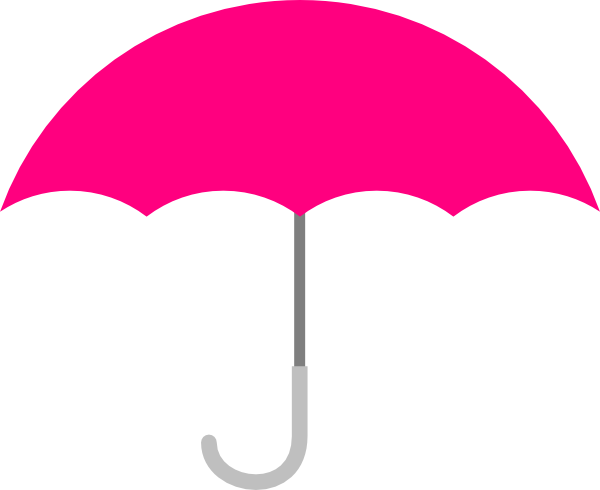 600x490 Pink Umbrella Clip Art