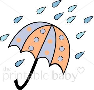 300x289 Rain Baby Shower Clipart