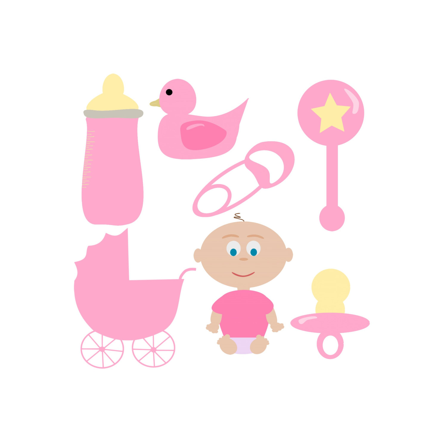 1500x1500 Baby Girl Items Clipart