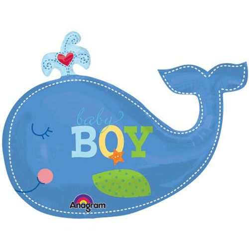 500x500 Blue Whale Clipart Baby Boy