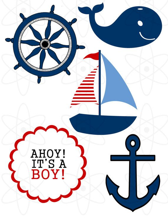 570x738 Nautical Baby Shower Clipart