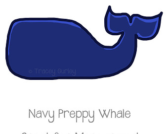 340x270 Preppy Navy Whale Original Art Clipart Panda