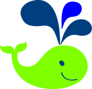 299x288 Whale Clipart Green Baby