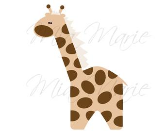 340x270 Giraffe Baby Shower Clipart