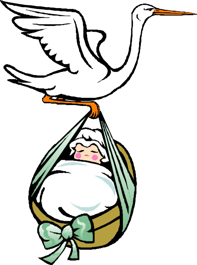 683x918 Free Baby Clipart Stork Image
