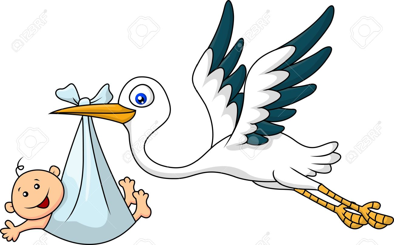 1300x809 Stork With Baby Royalty Free Cliparts, Vectors, And Stock