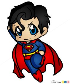 236x284 How to Draw Superman, Chibi drawdoo Chibi, Kawaii