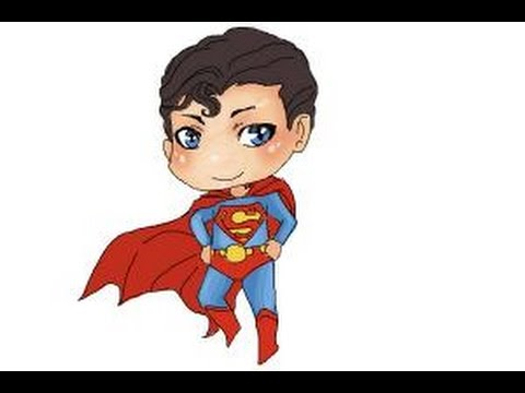 480x360 How to draw Chibi Superman