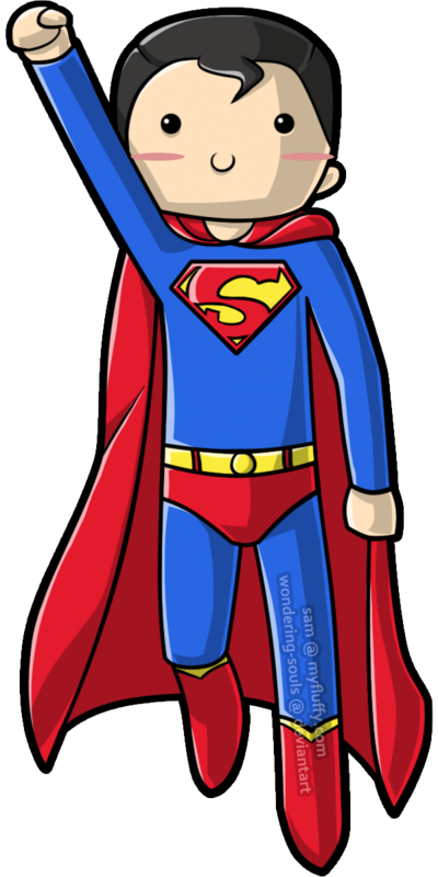400x800 Kid Superman Drawing