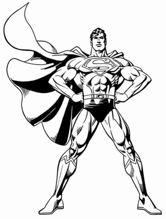 570x751 Superman body clipart