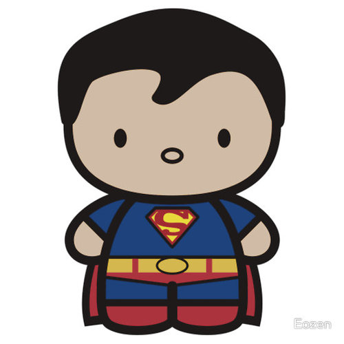 500x500 Superman clipart chibi